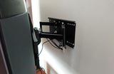 補強されてない壁にも、テレビの壁掛け工事は可能。。。